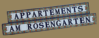 Appartements AM ROSENGARTEN